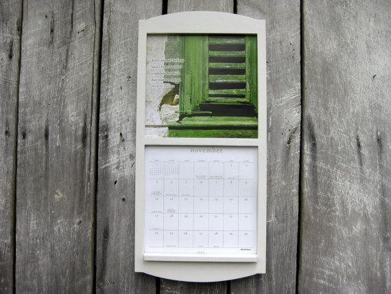12 x 24 calendar holder wooden calendar frame by sugarshackshoppe 3000