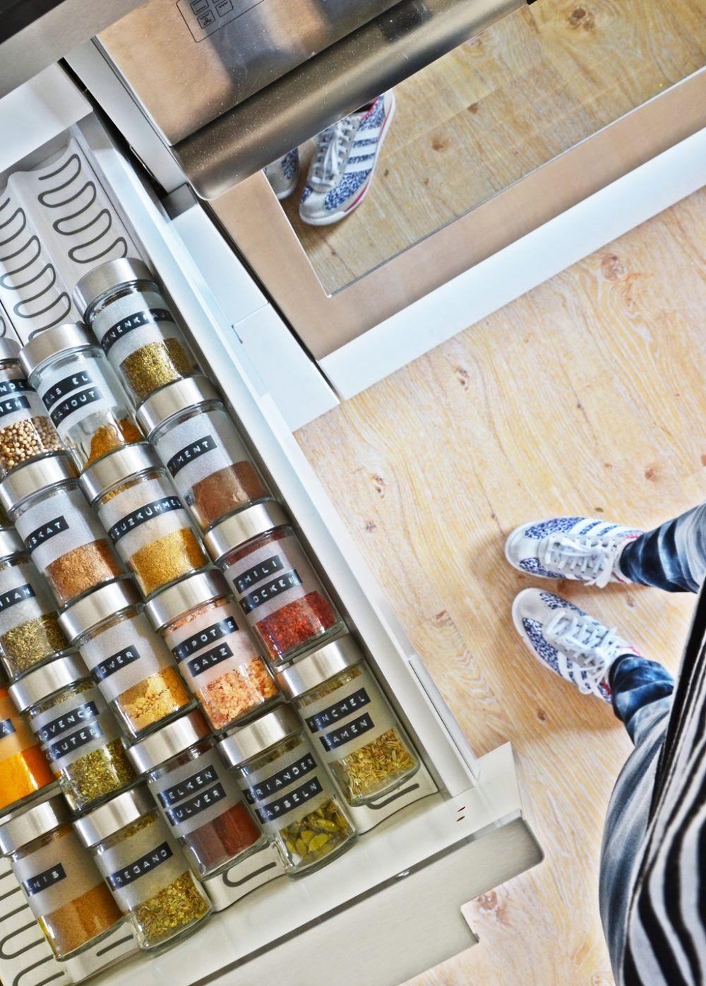 Photo of Meine DIY Vorratsgläser und Gewürz-Aufbewahrung in der neuen IKEA Küche & free printable