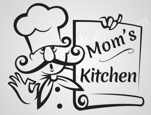 Mom S Kitchen Vinyl Wall Quote Word Decal Kitchen Cook Love Family