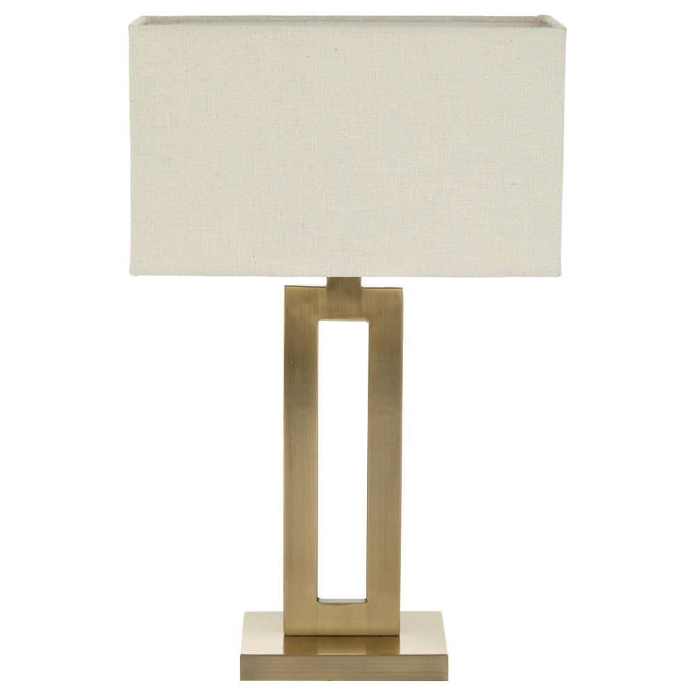 open rectangle table lamp with linen shade table lamps. Black Bedroom Furniture Sets. Home Design Ideas