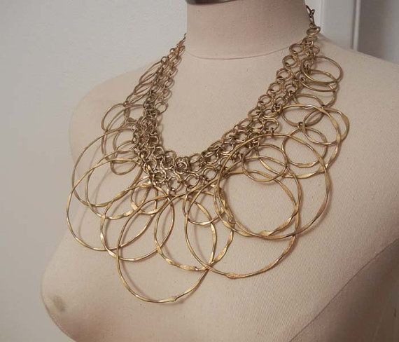 60s necklace / Huge Vintage1960's MId by Planetclairevintage, $198.00