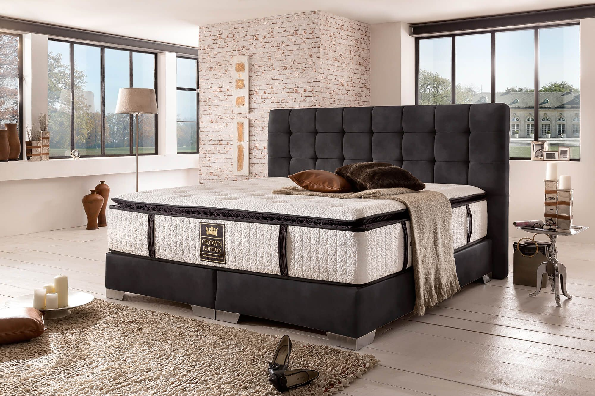 boxspringbett london deluxe schwarz boxspringbetten in 2019 schlafzimmer bett und. Black Bedroom Furniture Sets. Home Design Ideas