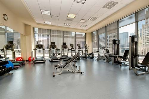 Full exercise room perfect for Chicago winters.   240 E. Illinois #2609