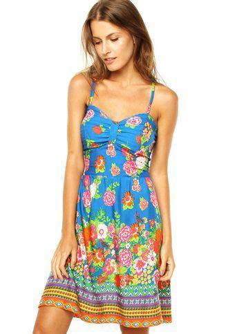 6cd4c04ae0 Vestido Mercatto Floral Azul