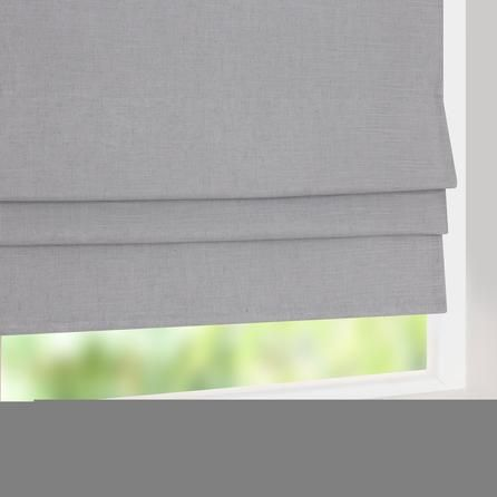 Grey Linen Blackout Roman Blind Dunelm Mill Home