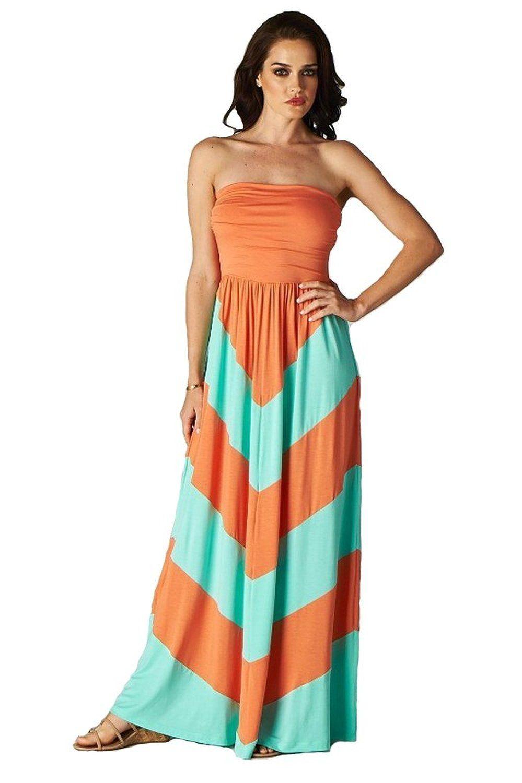 592f7c7799e4 Sleeveless Summer Dress Empire Maxi. Charm Your Prince Women s Sleeveless  Summer Chevron ...