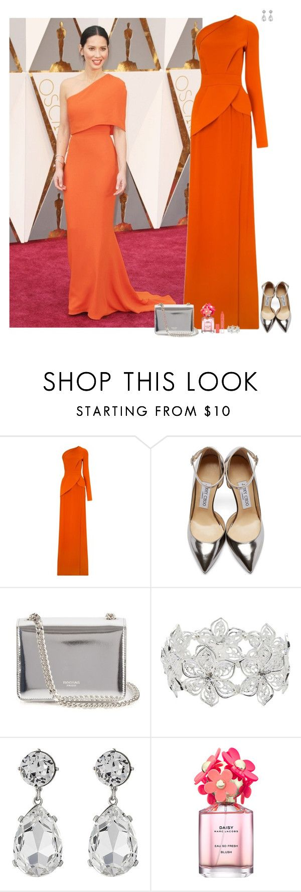 """""""Set 1528"""" by lapshi4ka ❤ liked on Polyvore featuring Antonio Berardi, Jimmy Choo, Rochas, M&Co, Kenneth Jay Lane and Marc Jacobs"""