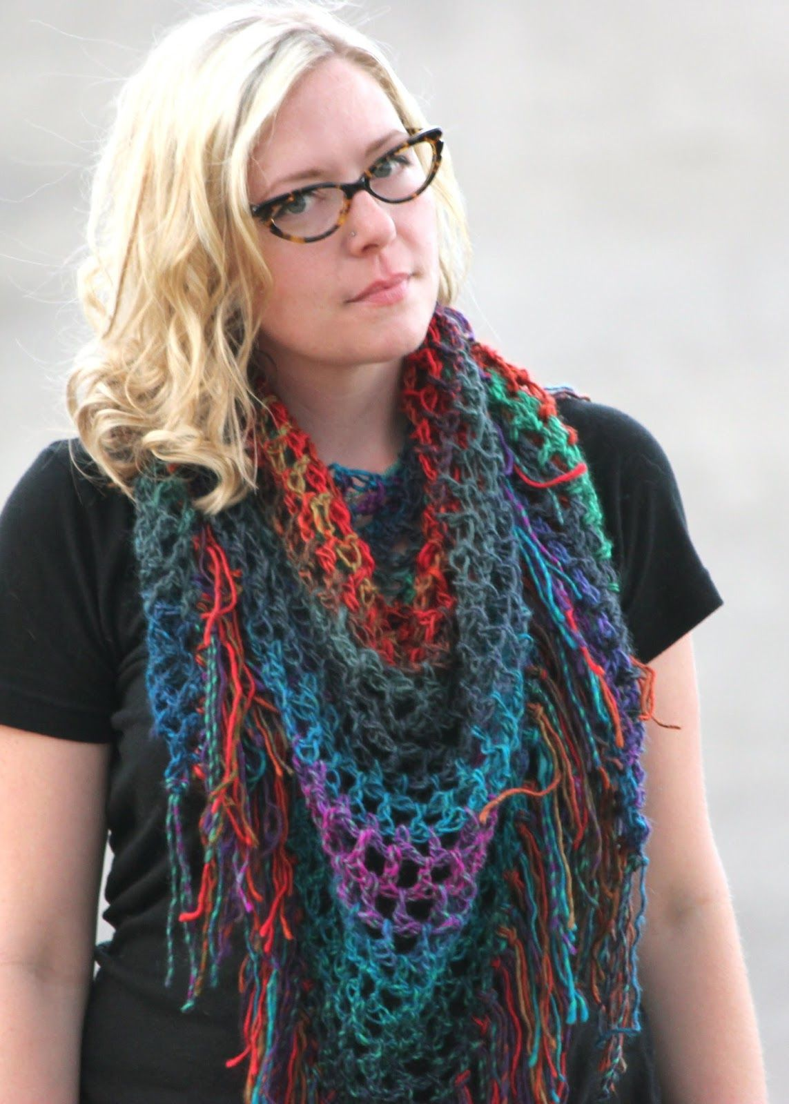 Cornflower Blue: Free Crochet Pattern Triangle Scarf Pattern ...