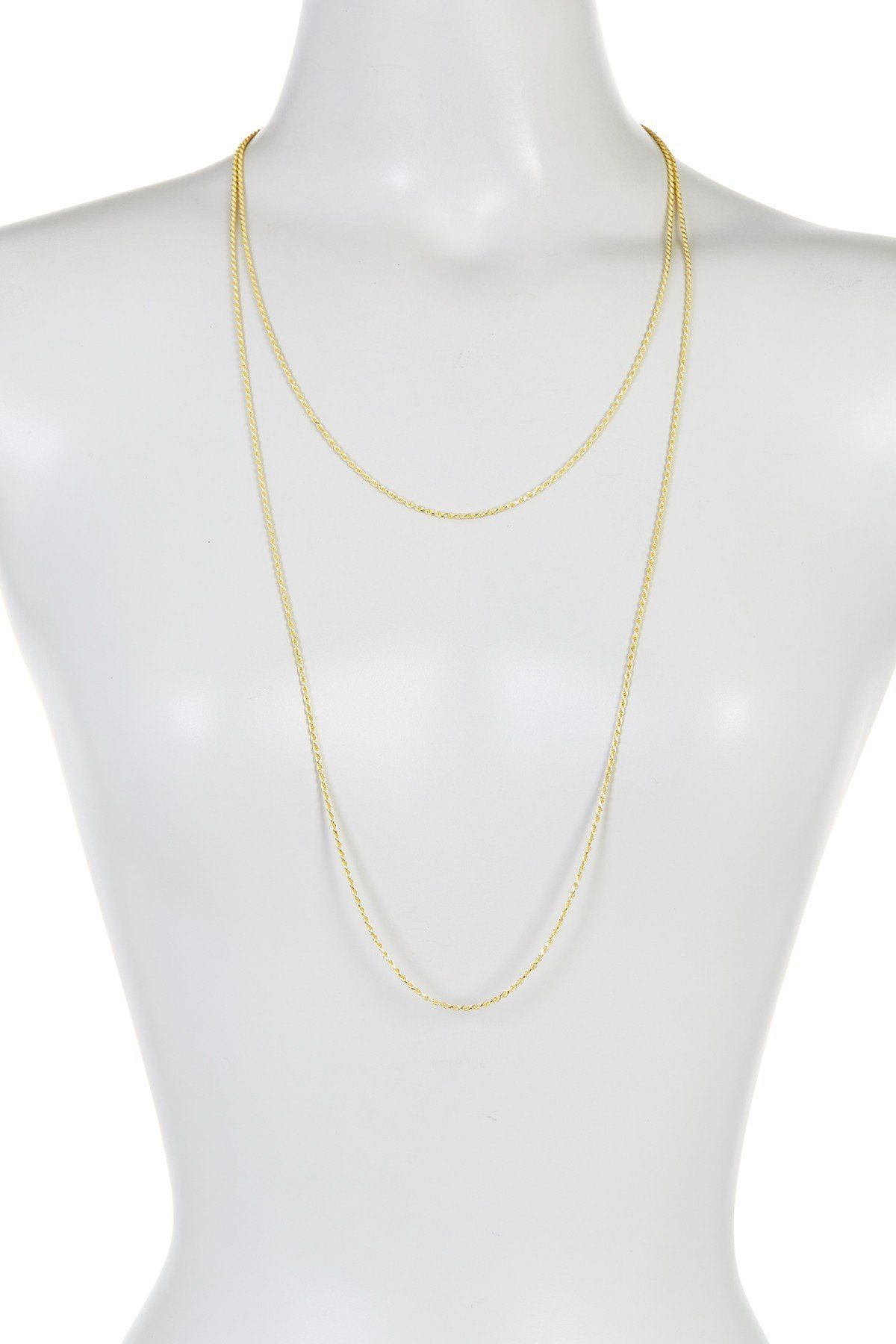 K gold plated sterling silver rope chain necklace set of