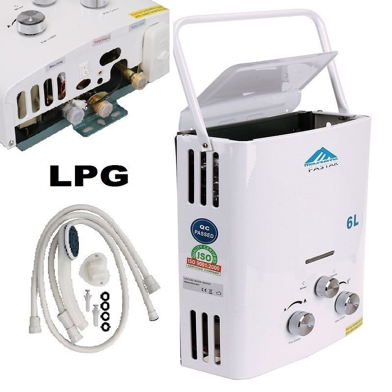 Spain Shipping 6l Outdoor Lpg Gas Water Heater 100 Quality For Thermostatic Tankless Instant Bath Boiler Shower H Water Heater Gas Water Heater Camping Water