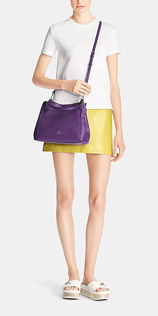 e61f2e753d5d Womens Coach Edie Edie 28 Shoulder Bag in Polished Pebble Leather ...