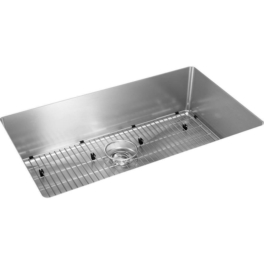 Elkay Crosstown Undermount Stainless Steel 31 In Single Bowl