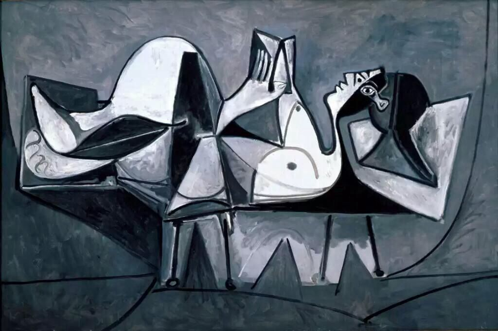Pablo Picasso Reclining Woman Reading 1960  #picasso #paintings #art