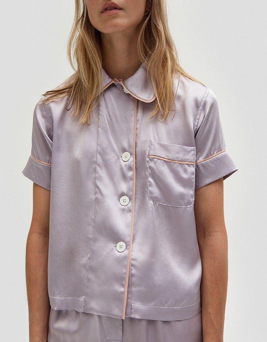 Araks   Shelby Pajama Top in Purple  5f6e1eaf9