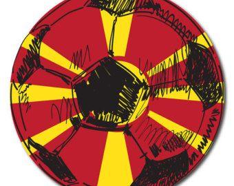 Macedonia Flag Soccer Ball Sticker