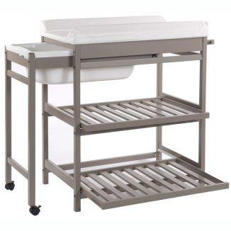 7 tables langer avec baignoire pratiques table - Table a langer en bois avec baignoire ...