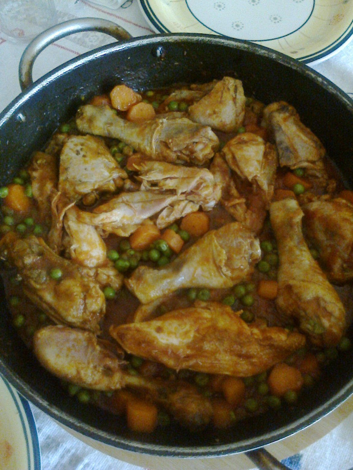 Photo of Stewed chicken with carrots and peas Cook with Claudia-Pollo…