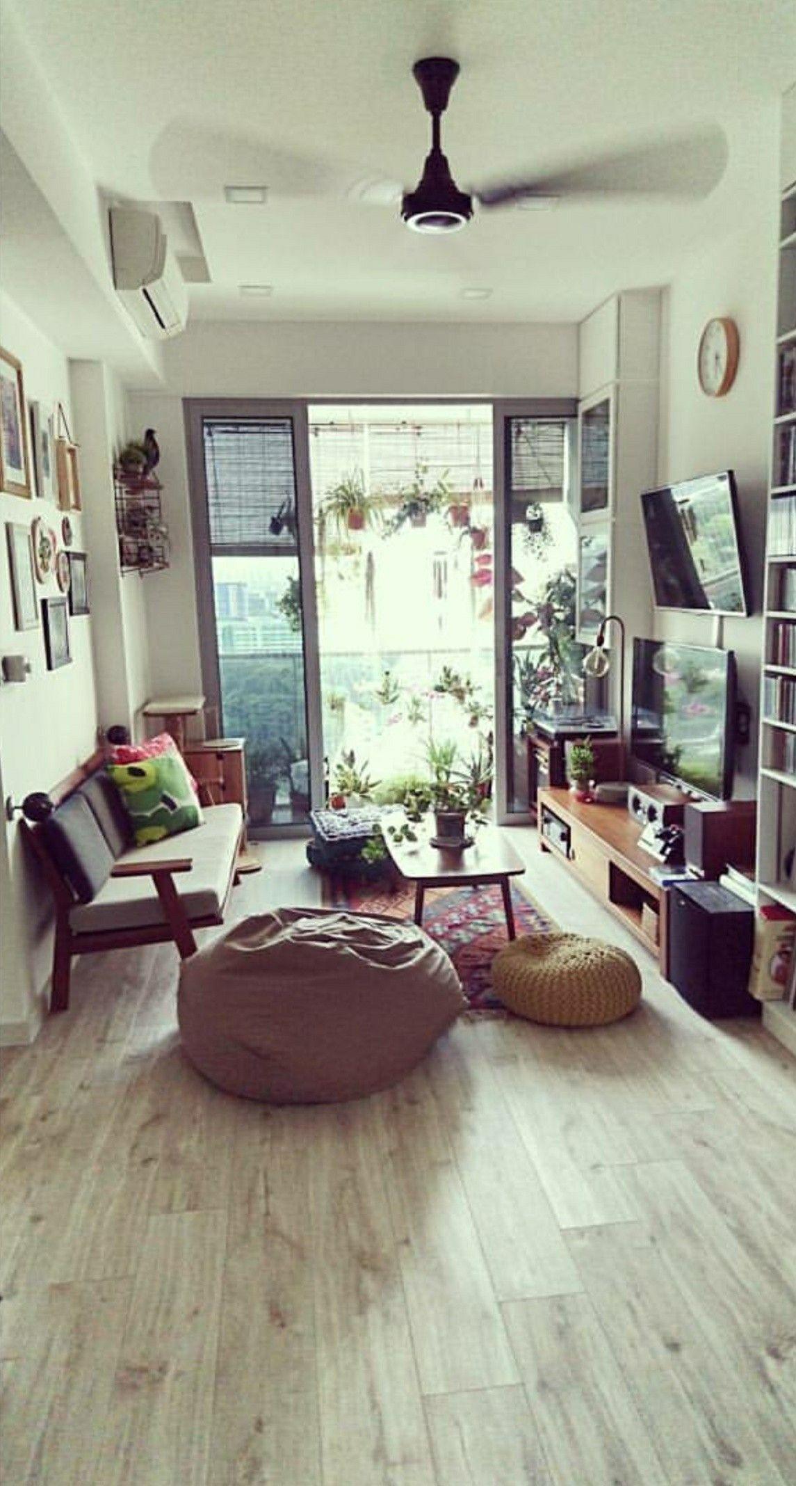 Small Apartment Living Muji Scanteak Rug Plants