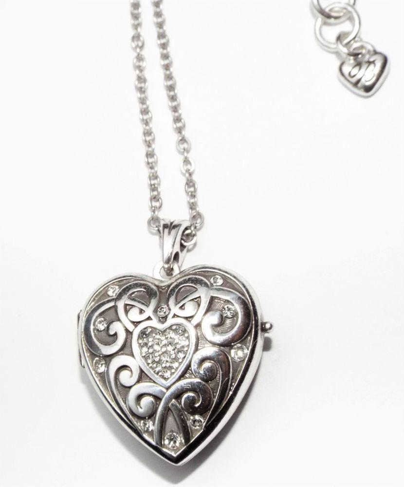 Brighton sweet memory heart locket pendant necklace costume brighton sweet memory heart locket pendant necklace costume jewelry brighton locket mozeypictures Images