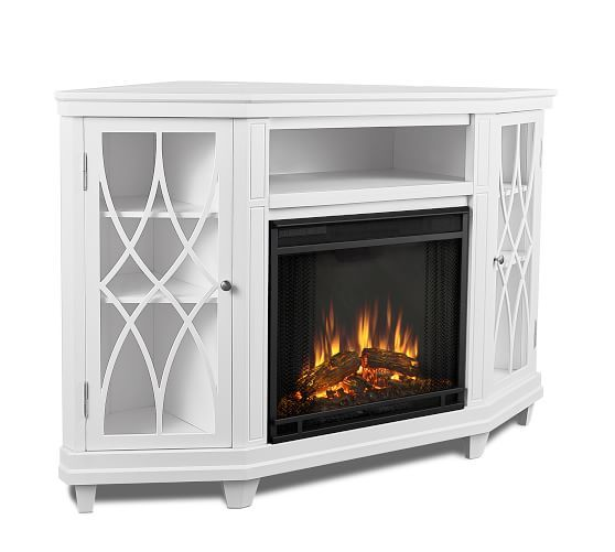 Real Flame Lynette Corner Electric Fireplace Media Cabinet