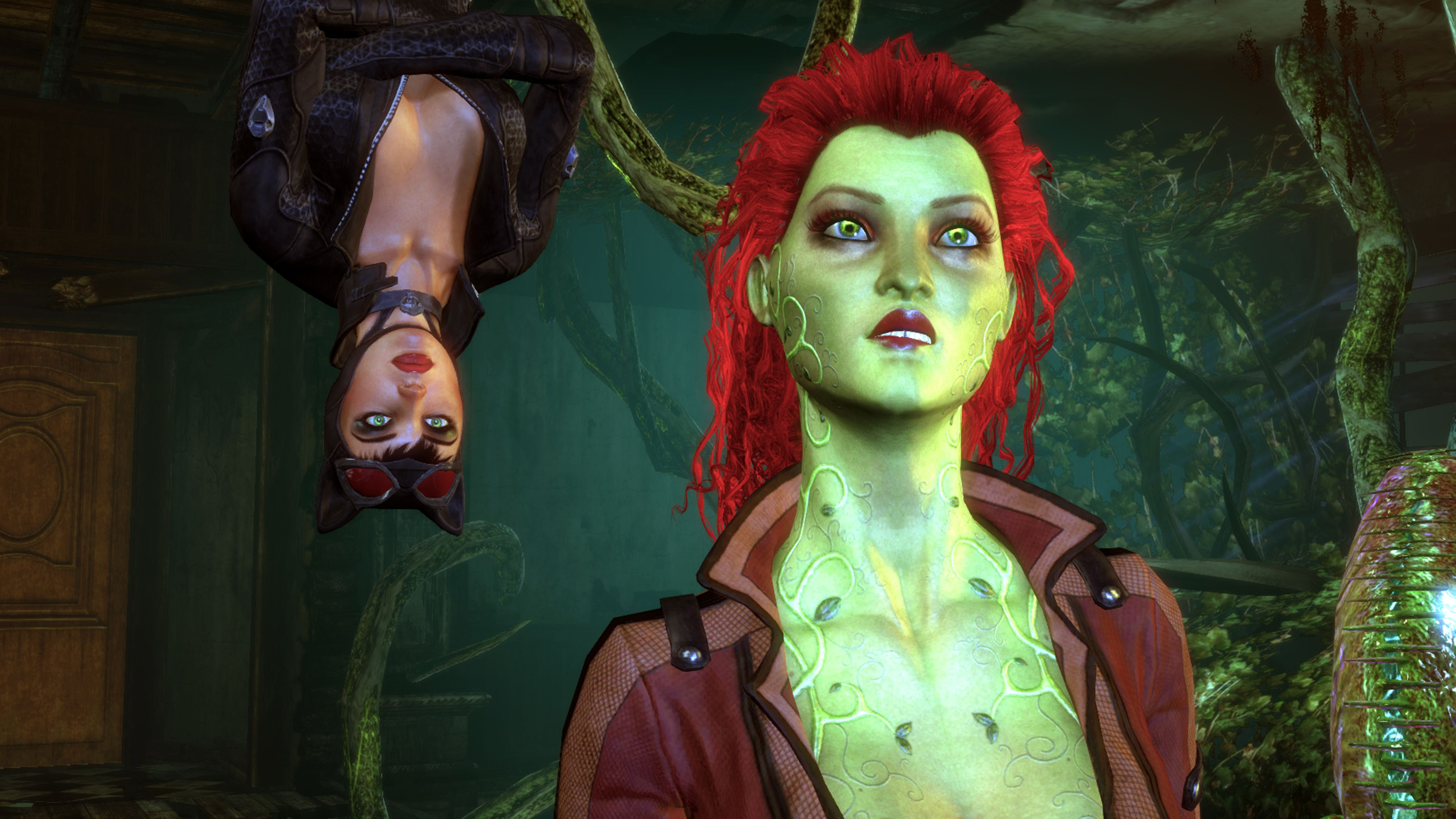 Batman Arkham City Catwoman Gets Information From Poison Ivy