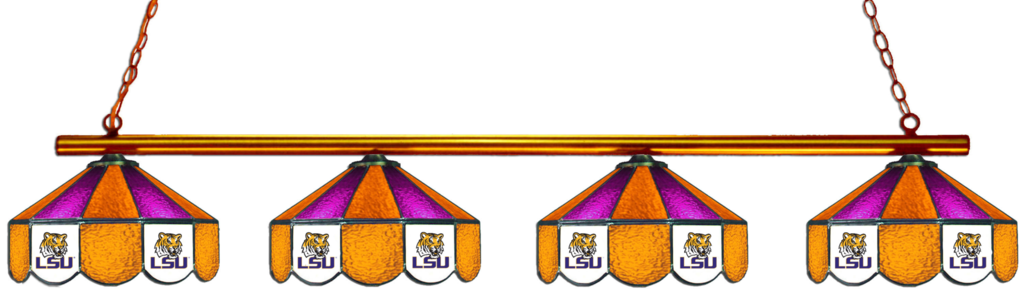Lsu Tigers Stained Glass 4 Light Pool Table Light Light Table Hanging Lights Pool Light