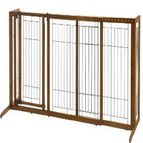 Attirant Freestanding Dog Gate With Door   Medium
