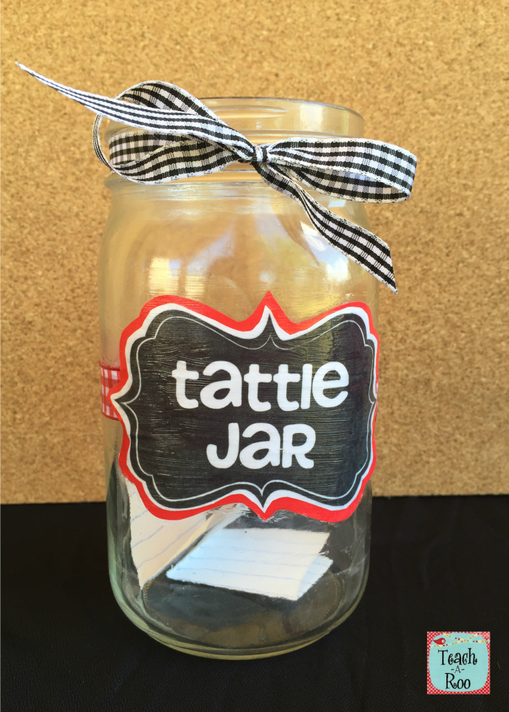Classroom Jar Ideas : Check out these ideas for dealing with tattling in the