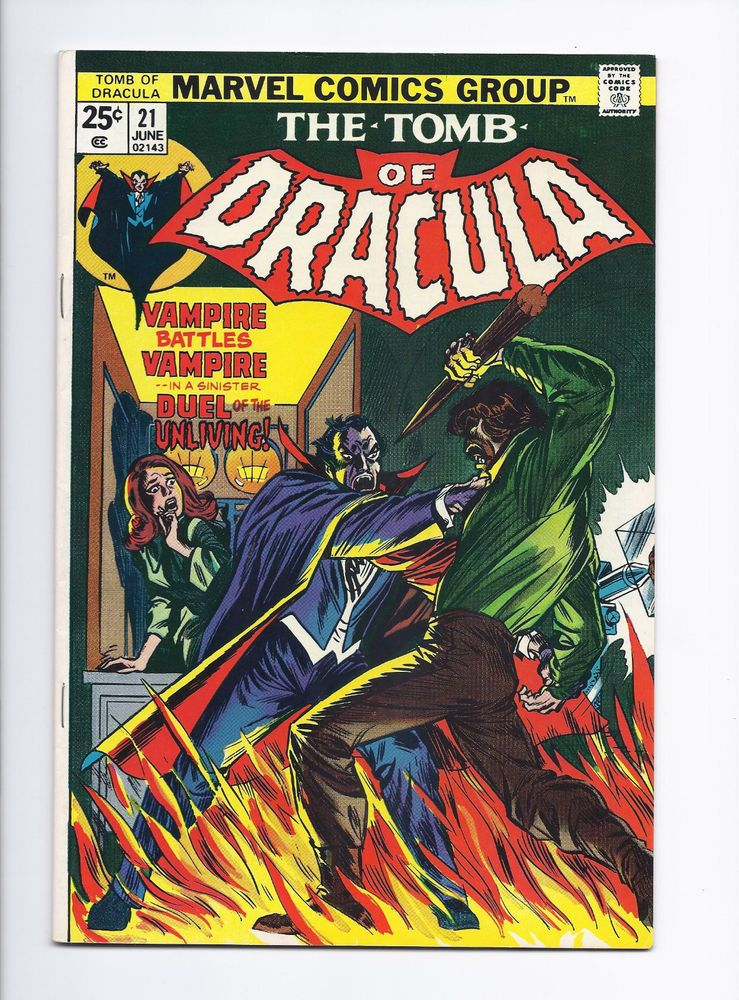 Tomb Of Dracula 21 Grade 8 0 Bronze Age Find Intact Value Stamp Http Www Ebay Com Itm Tomb Of Dracula 21 Grade 8 0 Bronze Ag Dracula Marvel Horror Comics