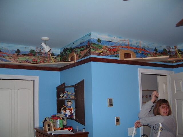 Train track around the room with tunnels! | My Own Home ...