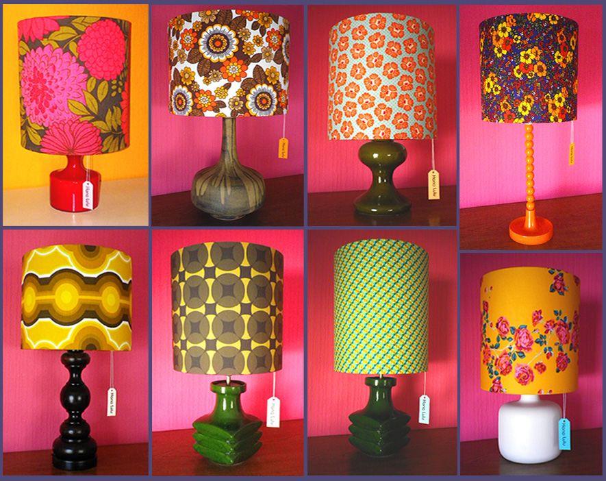 DIY Lampenschirme Bunt Retro Und Original 60er 70er Jahre Stoffe Von Hono  Lulu   Dawanda.