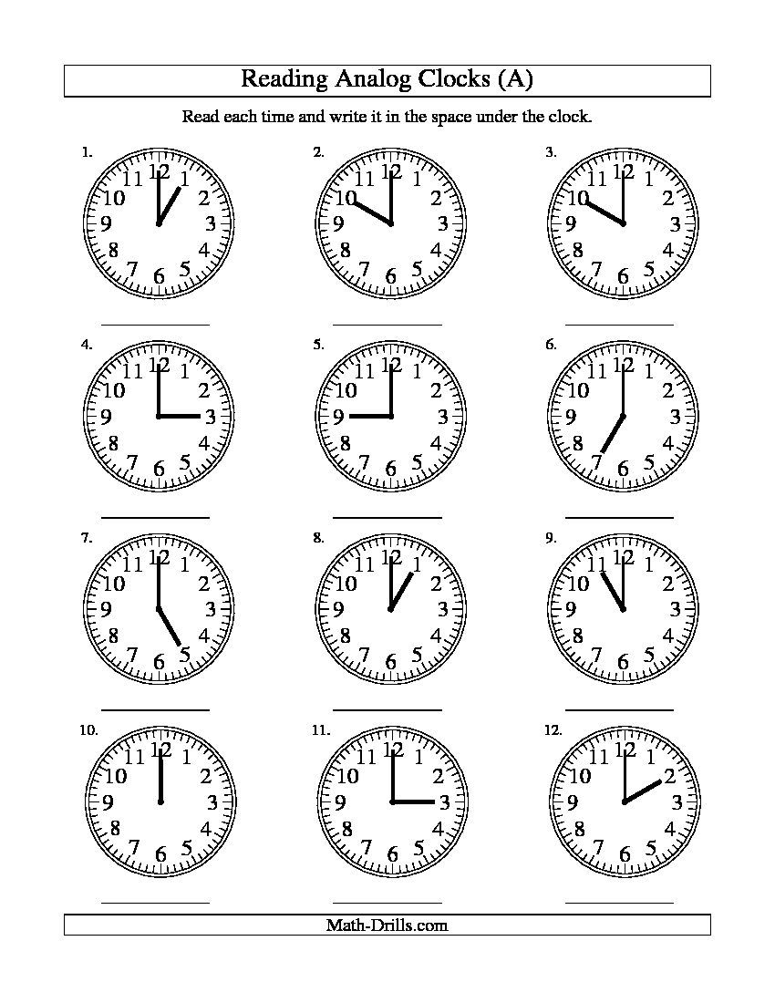 clock worksheets Google Search (With images) Time