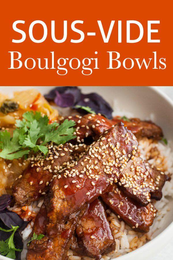 Sous Vide Beef Bulgogi Bowls | Recipe (With images) | Sous ...