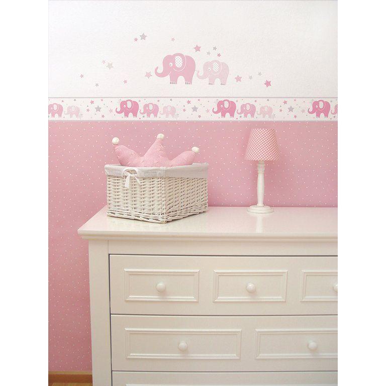 Kinderzimmer Bordure Elefanten Rosa Grau Selbstklebend Kinder Zimmer Kinderzimmer Weiss Kinderzimmer