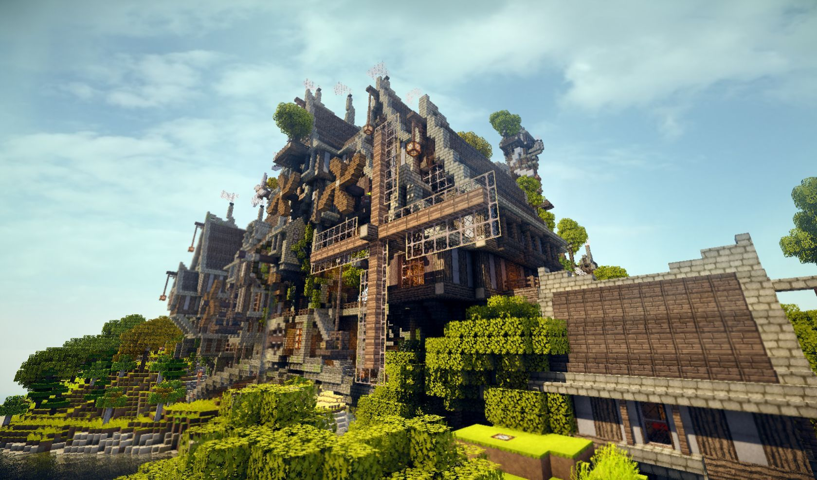 Top 15 minecraft creations minecraft creations minecraft ideas this beautiful minecraft steampunk island map is available for download now so you can experience gumiabroncs Choice Image