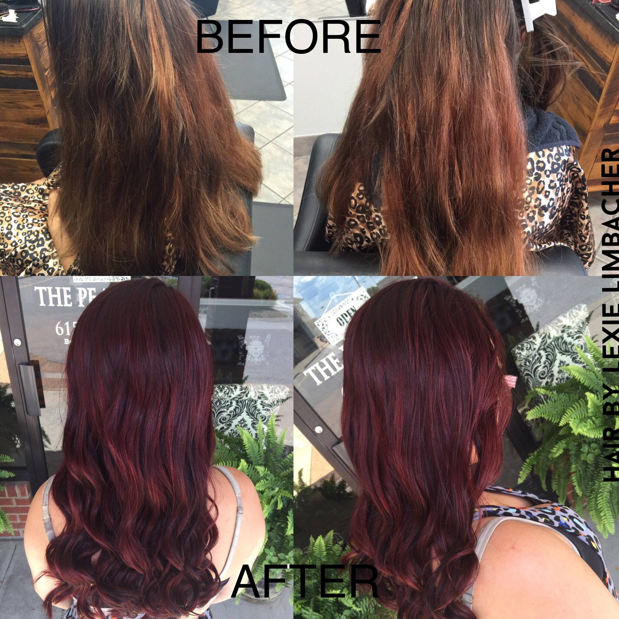 Beautiful Red Violet Color Using Redken 05rv In Shades Eq Gloss
