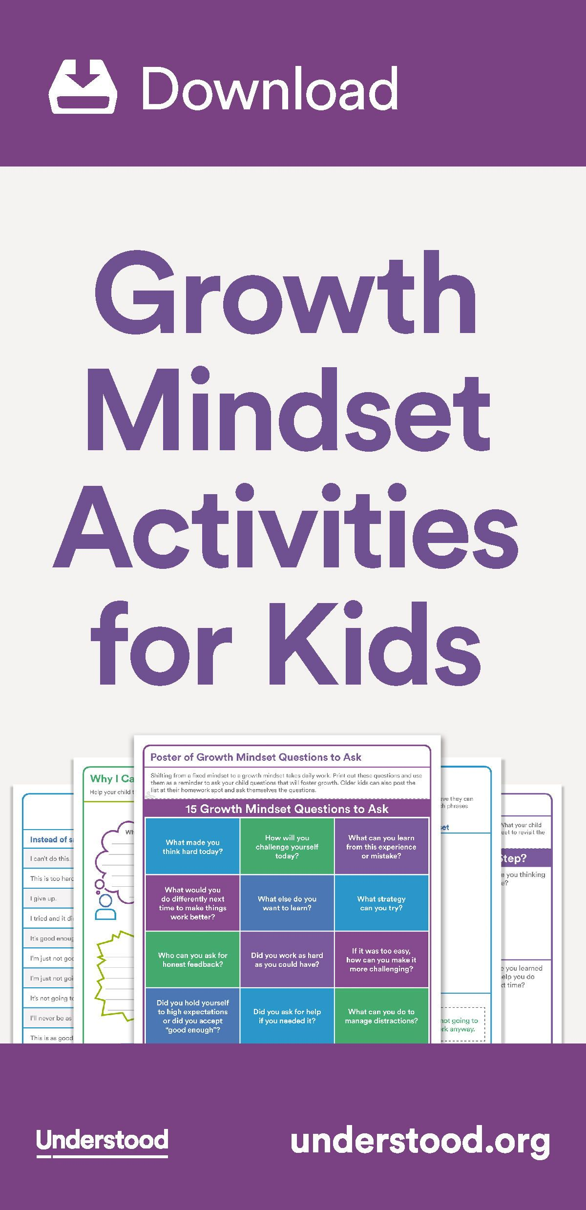 Download Growth Mindset Activities For Kids