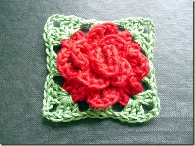 3d Flower Granny Square Then I Made Up One Of Astris Fabulous