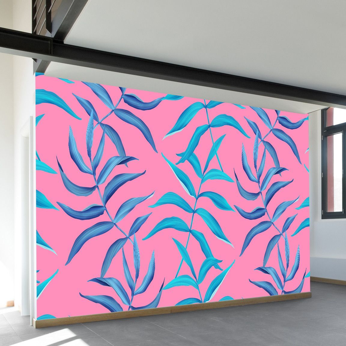 Neon Palms Wall Mural