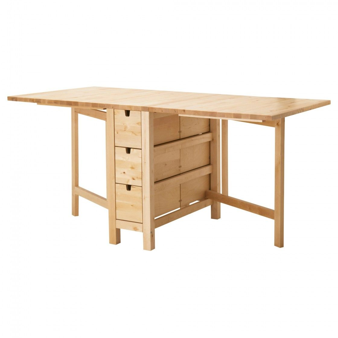 Affordable Natural Finish Oak Wood Ikea Dining Tables