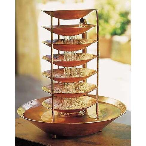 Copper chakra fountain photo craftsty pinterest for Homemade tabletop water fountain