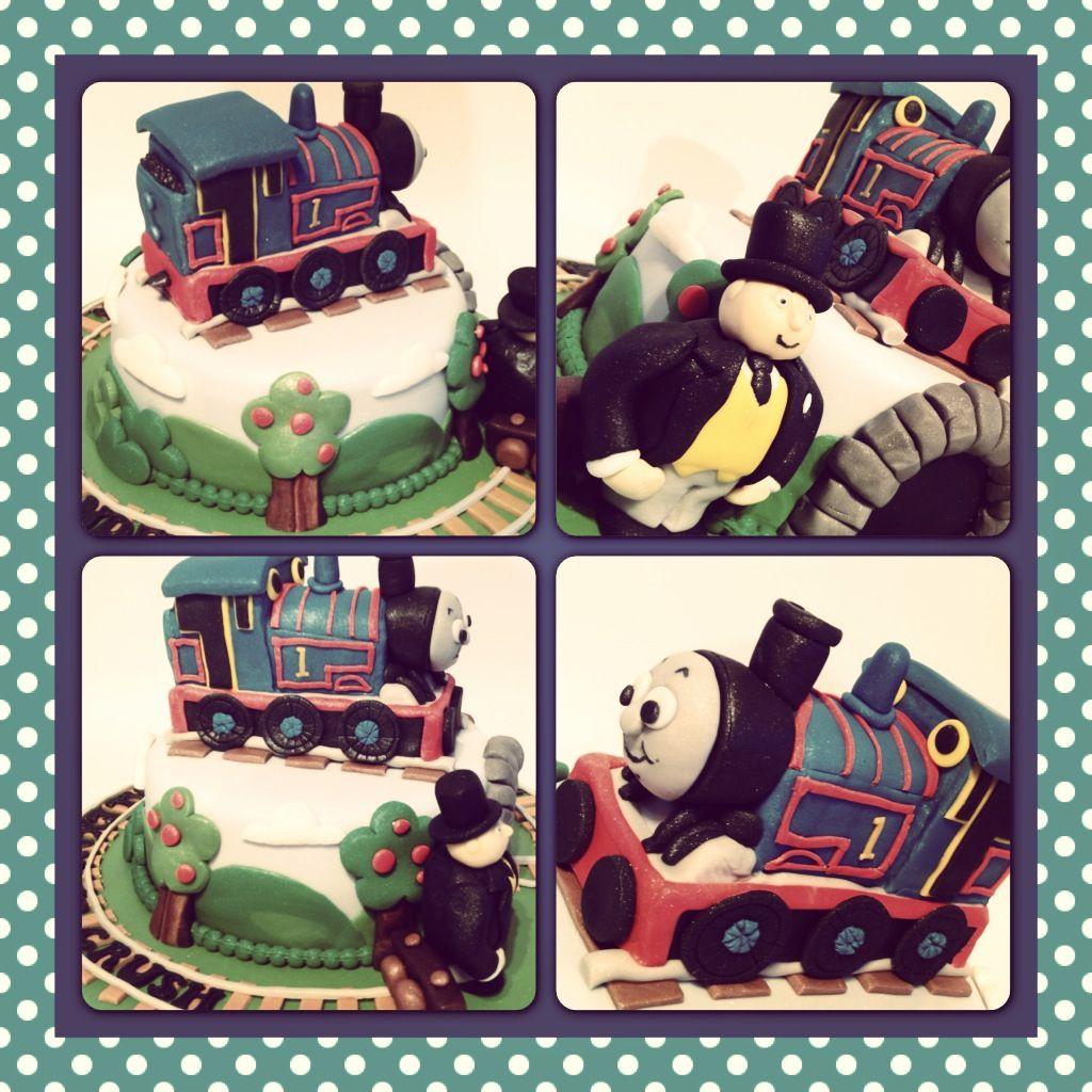 Thomas tank engine naming cake close up