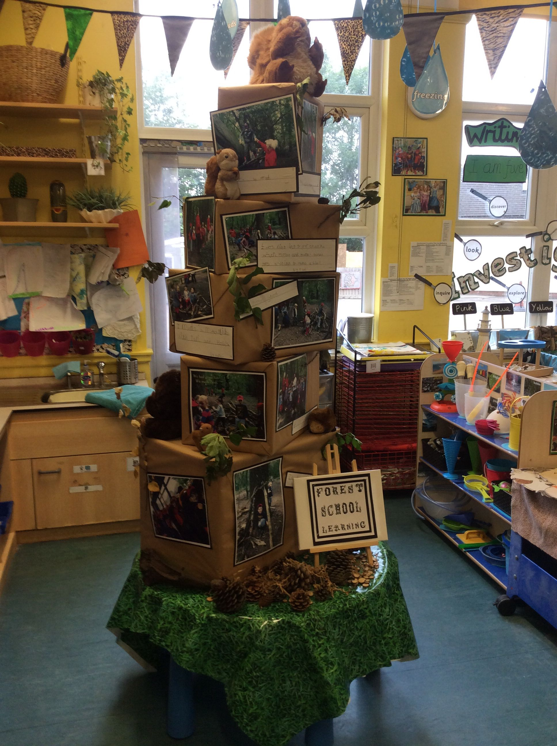 Forest Animal Display in the classroom library area to also have ...