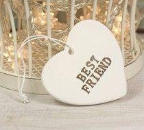 Best Friend Ceramic Heart Novelty Gifts Unique Novelty Gifts Unique Gifts