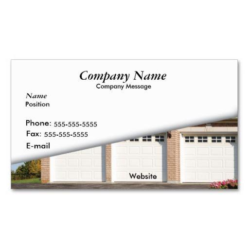 White 3 car garage business card make your own business card with white 3 car garage business card make your own business card with this great design colourmoves