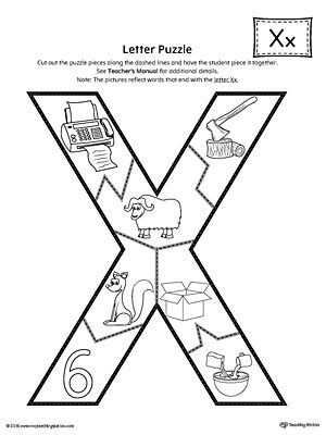 letter x puzzle printable 2 3 year old activities pinterest lettering printables and fine. Black Bedroom Furniture Sets. Home Design Ideas