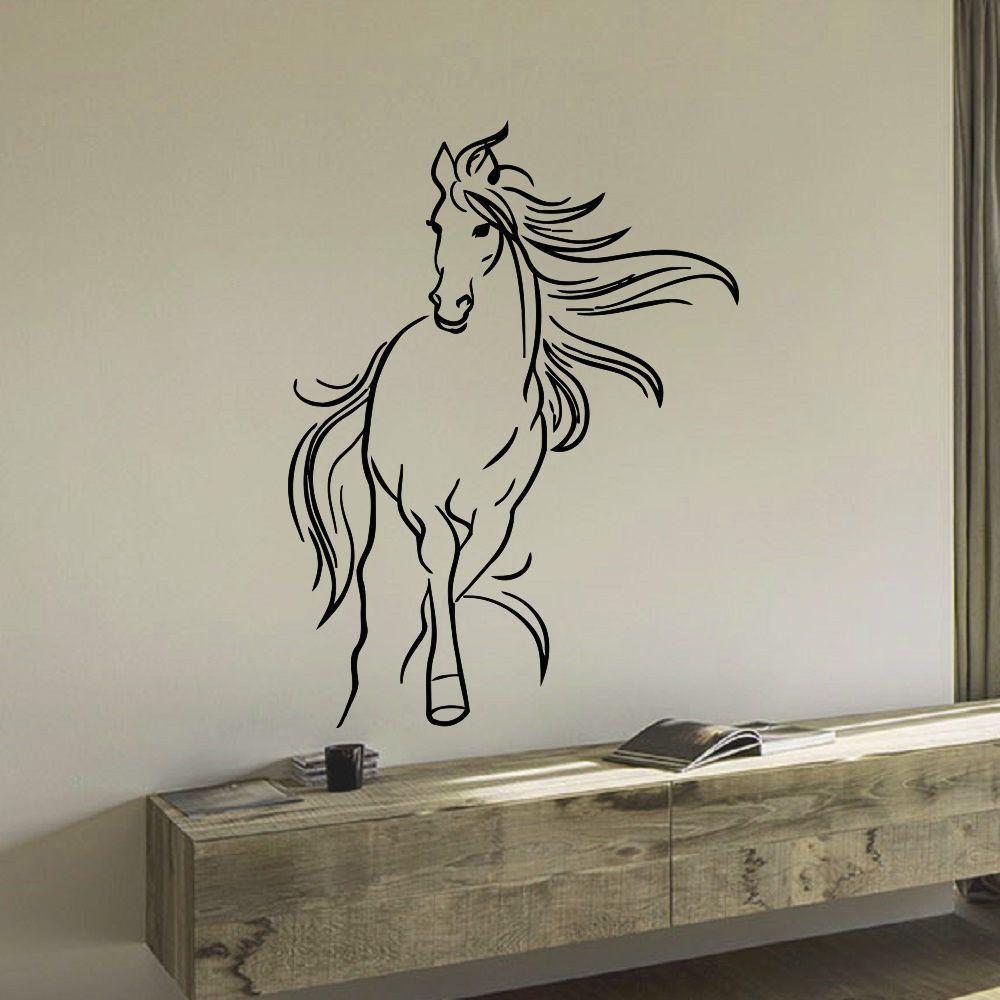 Horse sticker wall art - Mustang Horse Vinyl Wall Art Decal Sticker