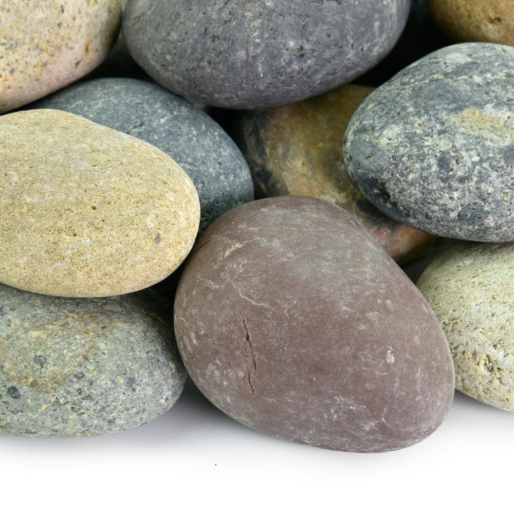 Southwest Boulder Stone 20 Lbs Of Mixed 1 2 In To 1 In Mexican Beach Pebbles Mexican Beach Pebbles Landscaping With Rocks Pebble Garden
