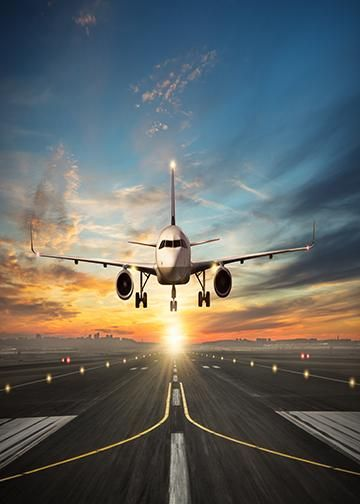 Passenger Airplane Landing Máy Bay, Tranh, Sân Bay Quốc Tế, Du Lịch, Nơ