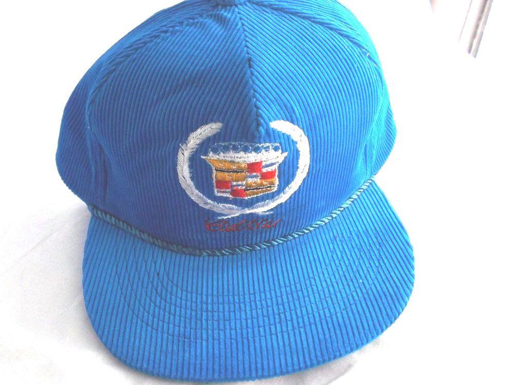 Vintage Embroidery 1 Size Fits All Cadillac Corduroy Baseball Cap! blue   Cadillac  BaseballCap 7036ed8d2294